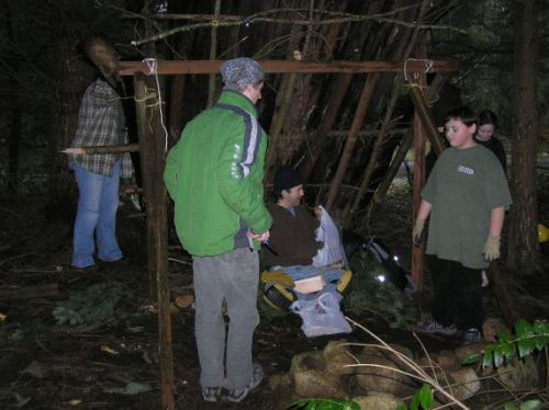 Lean-To Shelter Workshop with Wolf Camp