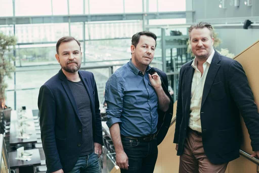 Christian Tod, Daniel Häni und Patrick Rammerstorfer bei der Veranstaltung zum Thema bedingungsloses Grundeinkommen