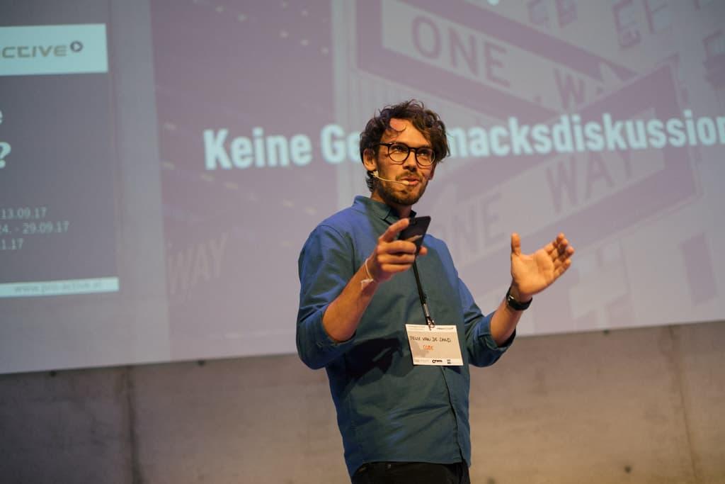 Vortrag Fill Gurten, Thema User Experience Interaction, digitales Arbeiten