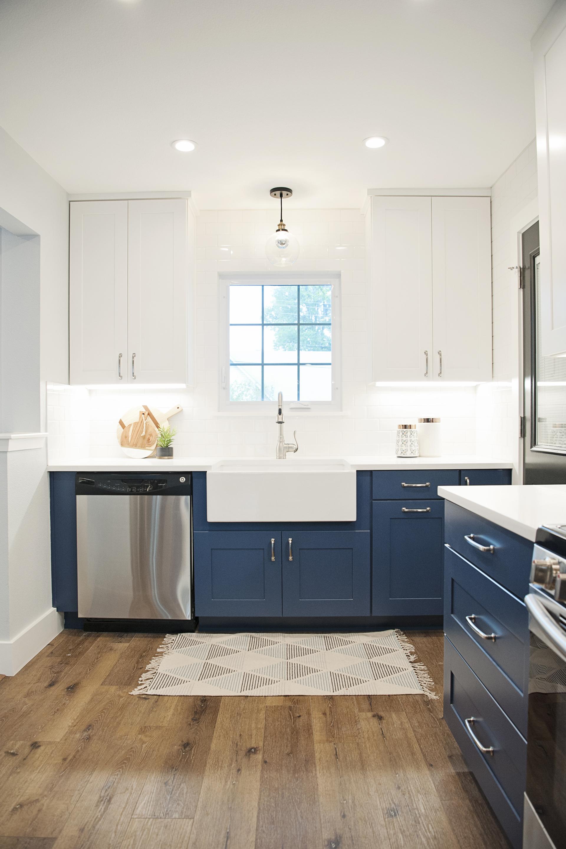 title   blue kitchen cabinets