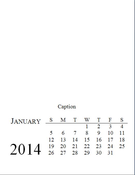 Sample Calendar Page