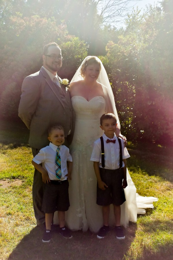 Bride and Groom... and Nephews!