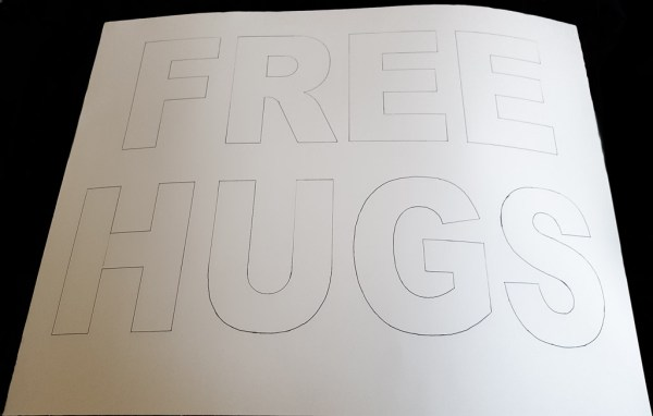 Free Hugs Poster, Stage 1