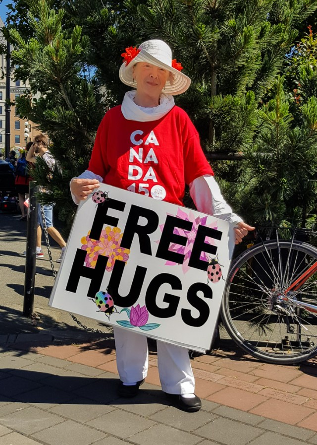 Free Hugs on Canada Day