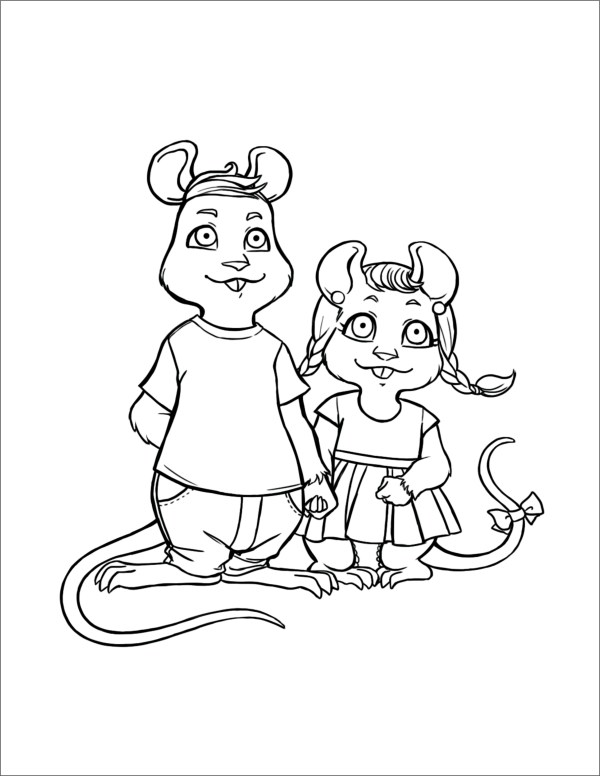Timothy and Squeaky - B&W