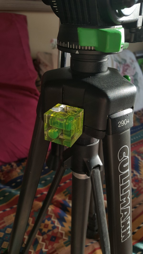 hot shoe level on my tripod