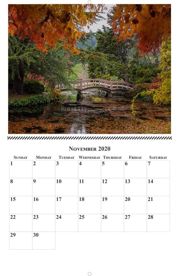2020 Full Page Calendar Sample