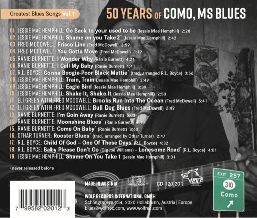 50 years of como ms Blues. back