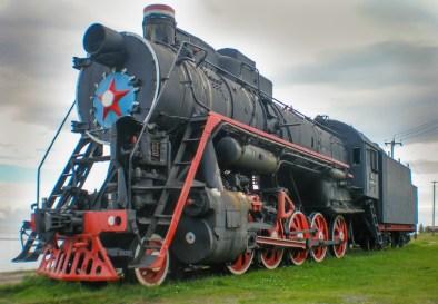 Lok an der Endstation in Port Baikal
