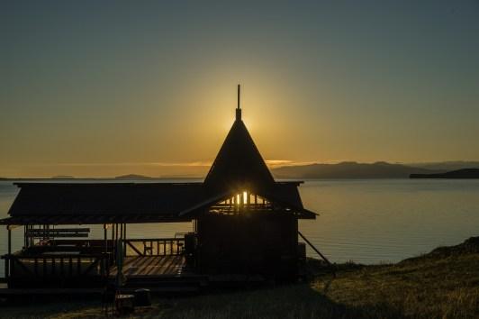gegen 05:55 Uhr am Basis-Camp Da-Shi - kurz nach Sonnenaufgang