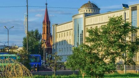 Irkutsk - an der Polnisch-Katholischen Kirche