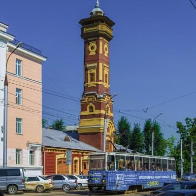 Irkutsk - Feuerwache mit Schlauchturm