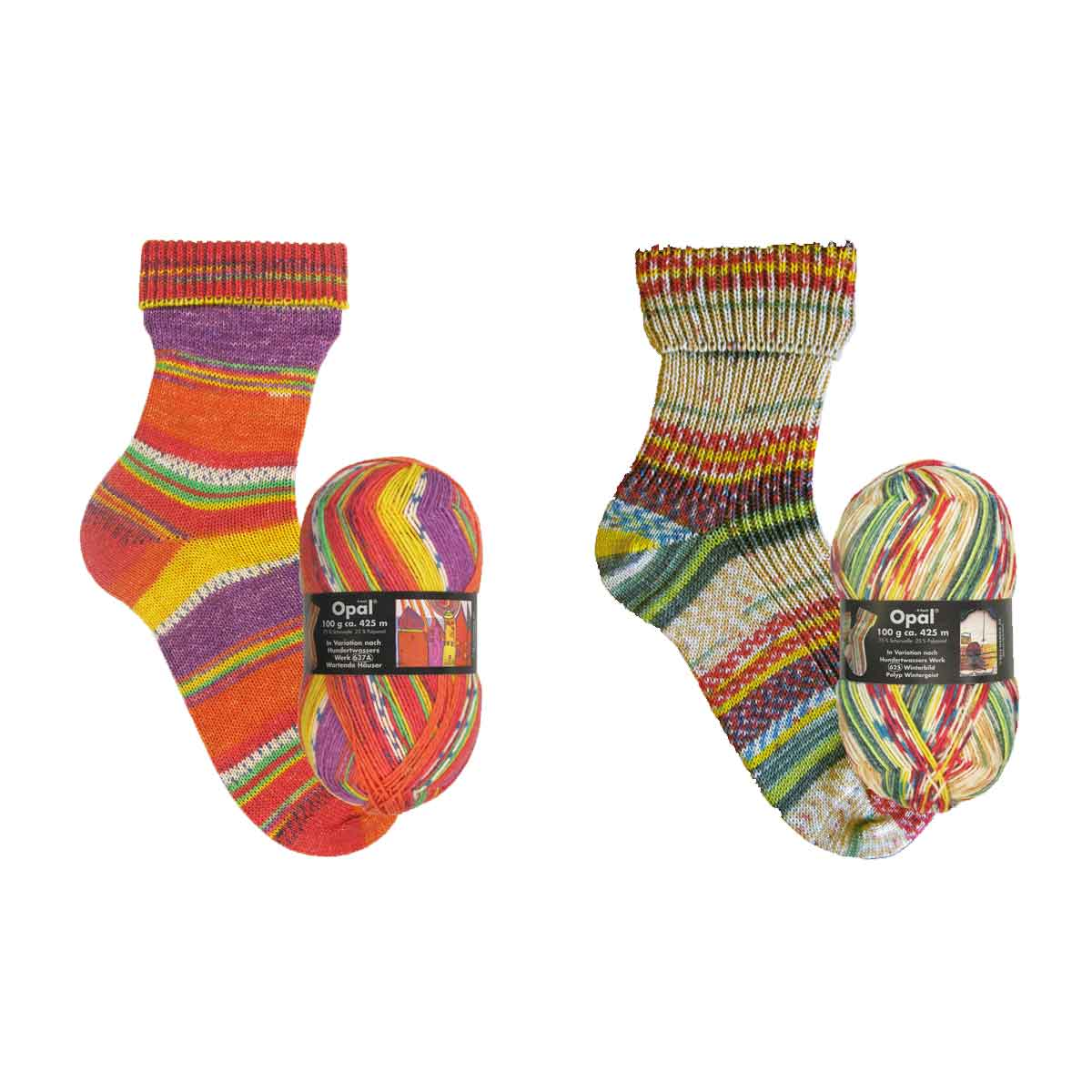 opal hundertwasser sokkenwol