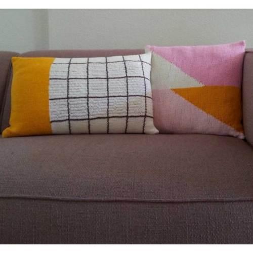 durable breipatroon geometrisch kussen