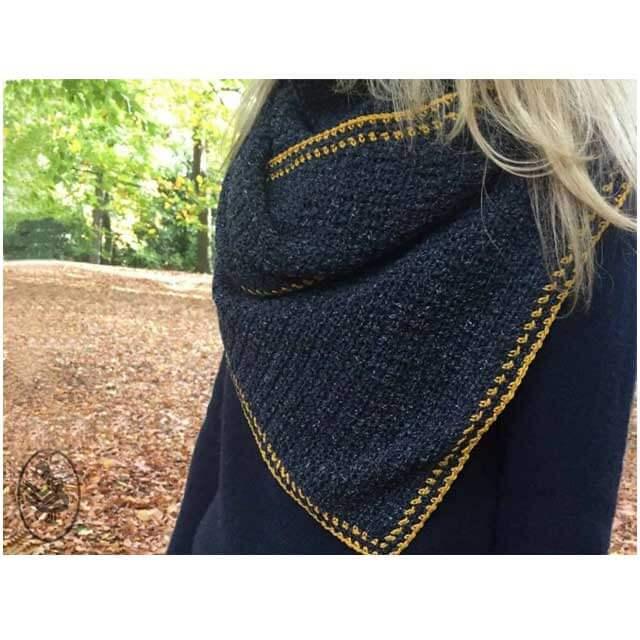 durable asymmetrische sjaal haakpatroon