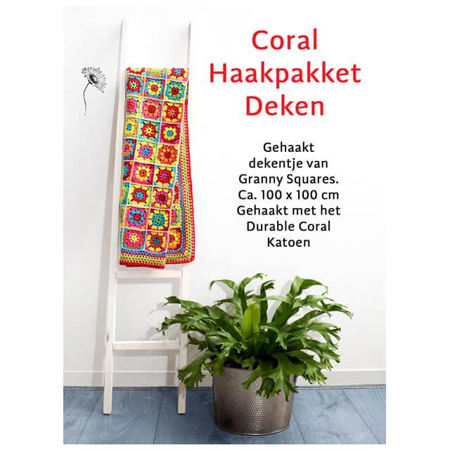durable happy colours dekentje haakpakket
