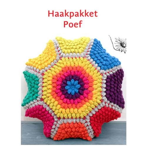 durable happy colours poef haakpakket