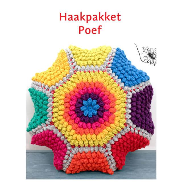 durable happy colours poef haakpakket