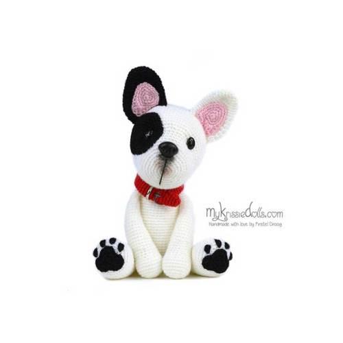 hondjes van sokkenwol franse bulldog luna haakpakket