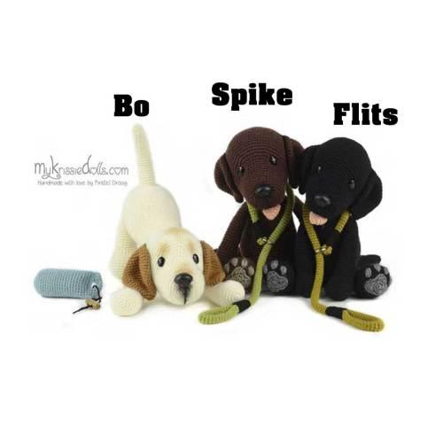 hondjes van sokkenwol labrador bo spike flits haakpakket