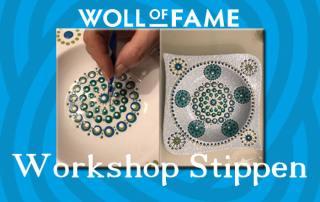 workshop stippen op zaterdag 4 april