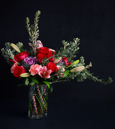 Extravagant bouquet of Colour is a stunning tribute by our Design Team. A standout arrangement of gorgeous colour and texture - the best of the best.