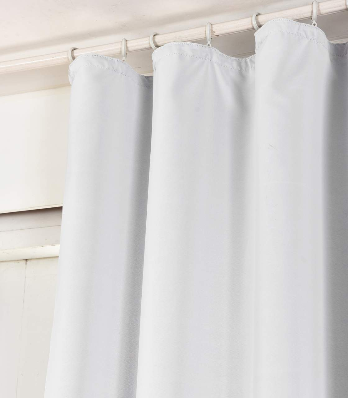 blackout curtain with curling tape white 135x245 cm