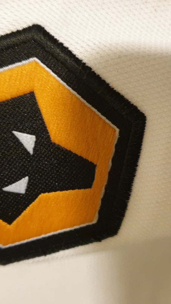 2002-2003 away Wolves shirt by Admiral - badge