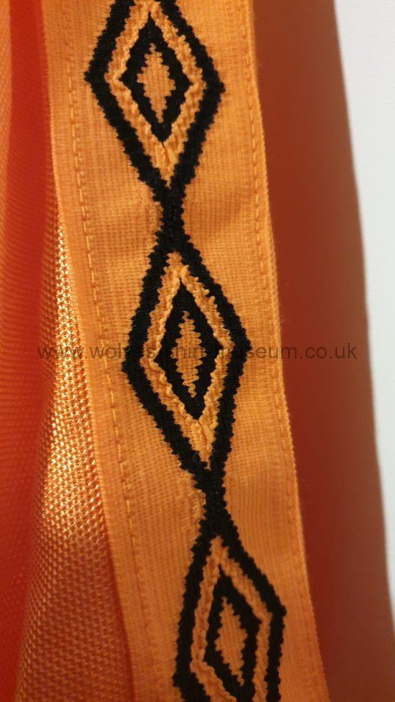 Wolves 1979-82 home shirt by Umbro - close up of the umbro diamonds
