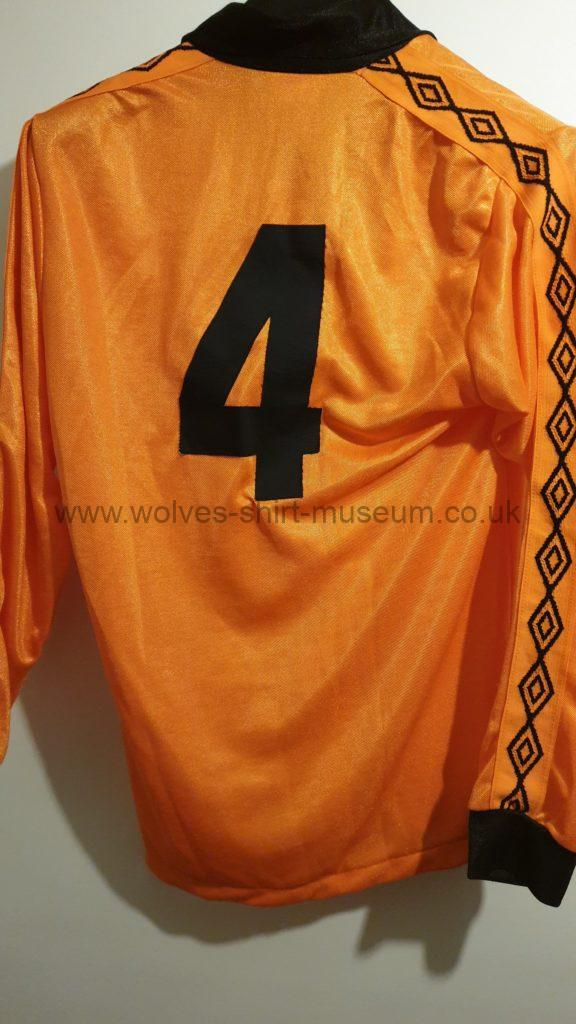 Wolves 1979-82 home shirt by Umbro - rear