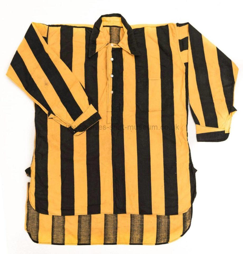 The earliest-known match-issued Wolves shirt from the 1800s