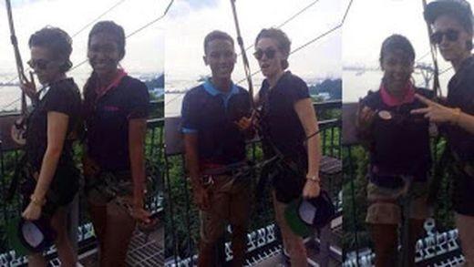Кристен Стюарт и Николас Холт развлекаются в Сингапуре