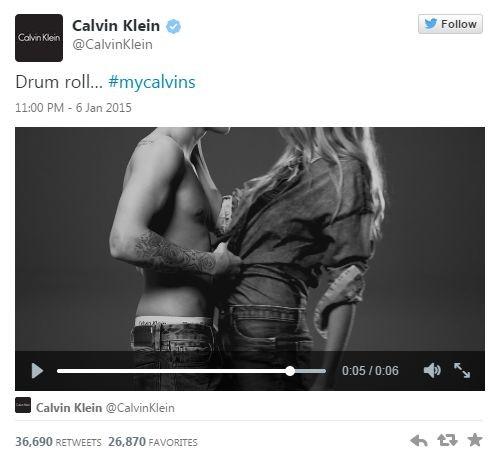 Джастину Биберу дорисовали мускулы для рекламы Calvin Klein