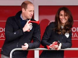 Принц Уильям и Кейт Миддлтон посетили Лондонский марафон