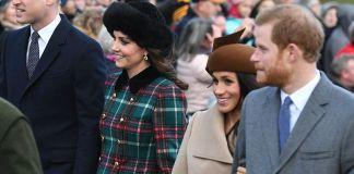 Кейт Миддлтон и Меган Маркл посетили Рождественскую службу вместе с принцами Уильямом и Гарри