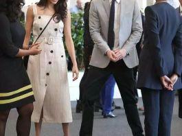 Чёрное и белое - 2 платья Меган Маркл для новых выходов в свет