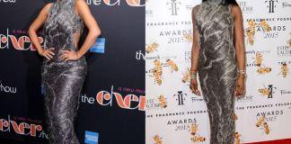 Наоми Кэмпбелл и Ким Кардашян в платье Atelier Versace