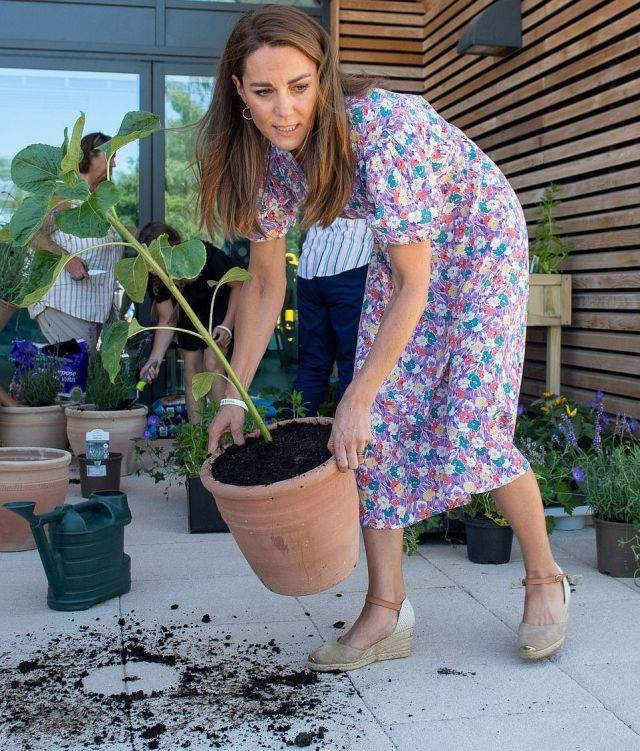 Кейт Миддлтон посадила растения для детского хосписа