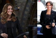 Кейт Миддлтон и Меган Маркл в пиджаке и брюках