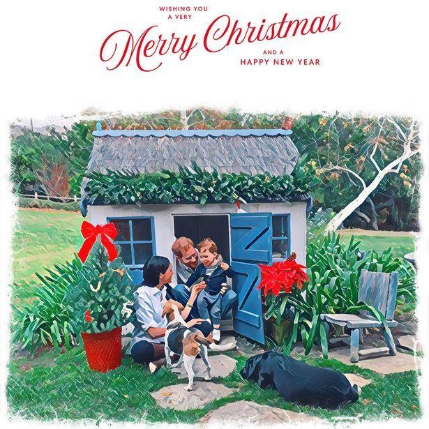 Принц Гарри и Меган Маркл показали свою рождественскую открытку