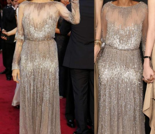 Анджелина Джоли и Захара Джоли-Питт в платье Elie Saab
