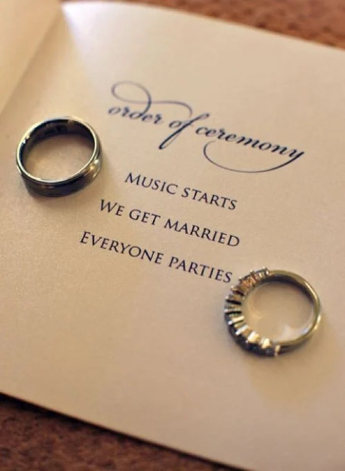 Short and to the point = my kind of wedding program.  Photo via Becker Photographer