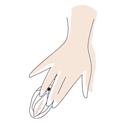 Cuando utilice un producto WOMANIZER por primera vez, póngase cómodo, preferiblemente en un lugar donde se sienta más relajado.  Separe los labios ligeramente con los dedos para que su clítoris quede expuesto.