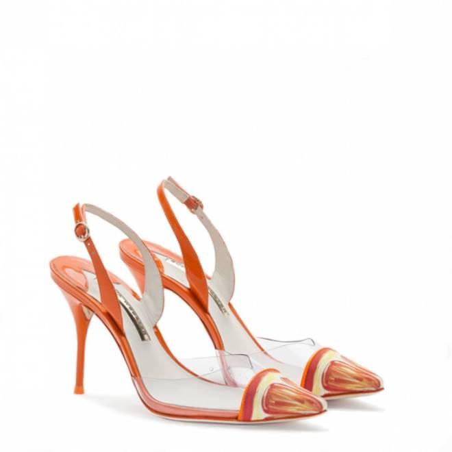 Sophia Webster Daria Tangerine Orange Sling Back 2