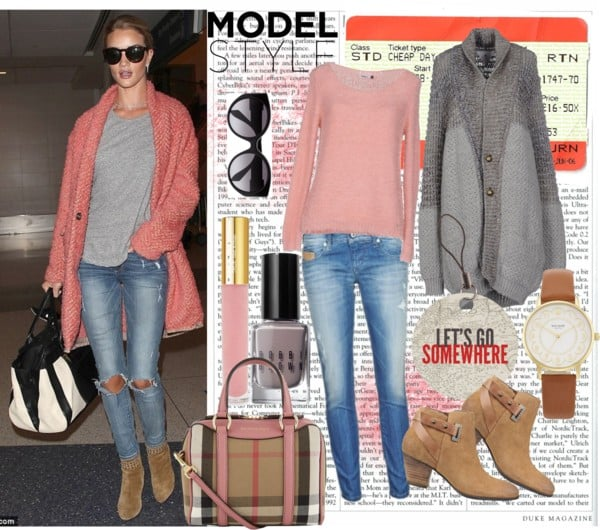travel style - Rosie Huntington