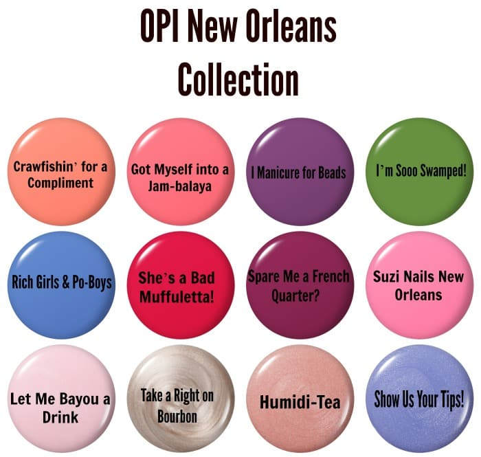 OPI new Orleans collection μανό άνοιξη καλοκαίρι 2016