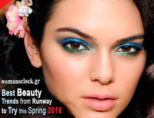 τα ωραιότερα trends σε μακιγιαζ και μαλλια ανοιξη καλοκαιρι 2016 που είδαμε στα runways