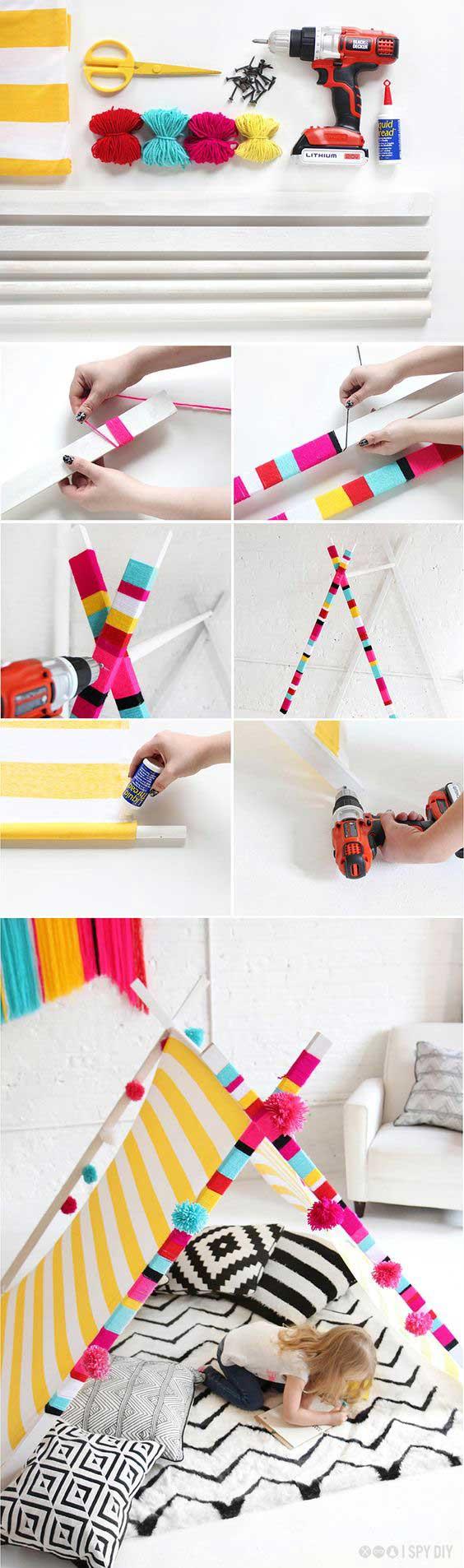 DIY Μια σκηνή για το Παιδικό Δωμάτιο ή τον Κήπο!