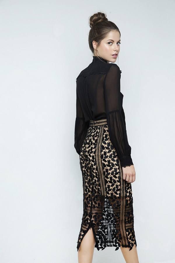 Φούστα με Δαντέλα Zini Boutique