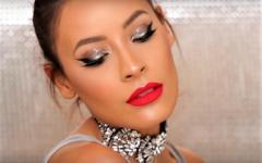 Ένα Glam Μακιγιάζ για τις γιορτές με Glitter στα Μάτια